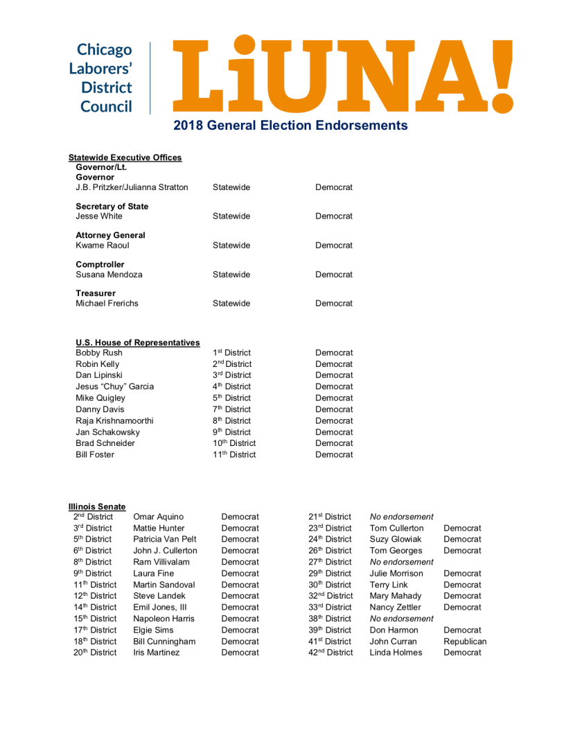 LIUNA 2018 General Election Endorsements_10.22.18